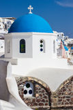 Blue dome church close-up, Santorini island, Greece Royalty Free Stock Photo