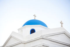 Blue dome church Royalty Free Stock Photos