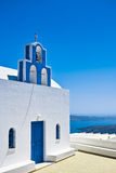 Blue Dome Church. The most famous blue dome church on santorini island, greece stock photography