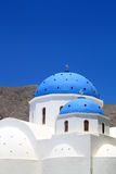 Blue Dome of a Church at Santorini, Greece. Stock Photos