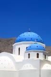 Blue Dome of a Church at Santorini, Greece. stock photos