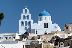 Blue dome of church on Santorini island, Greece Royalty Free Stock Image