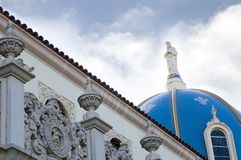 Blue dome of The Immaculata Church, University of Stock Photo
