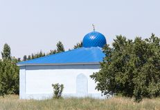 Blue Dome Mosque. In the park in nature royalty free stock images