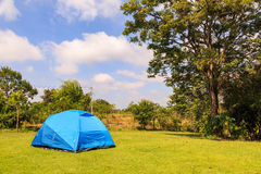 Blue dome tent royalty free stock photo