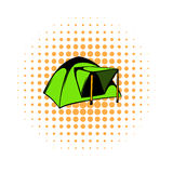 Blue dome tent icon, comics style Royalty Free Stock Photo