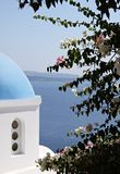 Blue domed chapel at Santorini, definitely a must-see. stock images