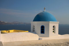 Blue domed church Royalty Free Stock Photo