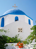 Blue domed church, Paros, Greece. Royalty Free Stock Photography