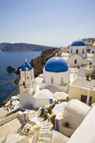 Blue Domed Churches, Oia, Santorini, Greece Stock Images