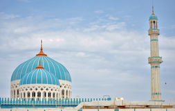 The blue domed mosque. A unique mosque design with a rare color for the dome in Delma island Stock Images