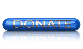 Blue donate icon Royalty Free Stock Image