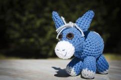 Blue donkey Royalty Free Stock Image