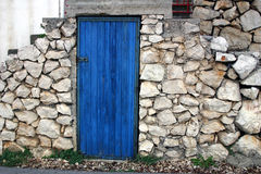 Blue door stock images