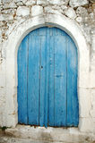 Blue door Stock Photo