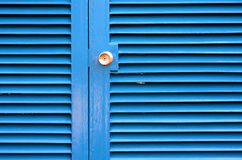 Blue door. The Blue door and Knob Royalty Free Stock Photography