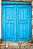 Blue door Royalty Free Stock Photo