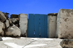 Blue door. A blue door in a Greek island Royalty Free Stock Photography
