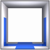 The Blue Door Box Frame Stock Image