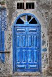 Blue Door. A bright blue door in Morocco Royalty Free Stock Photos