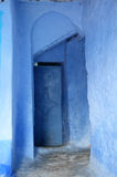 Blue door in Chefchaouen, Morocco Royalty Free Stock Image