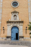 Blue door of the church in Altea Royalty Free Stock Photo