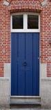 Blue door in Dutch tradition Stock Photo