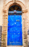 Blue door in Essaouira, Morocco Royalty Free Stock Photos