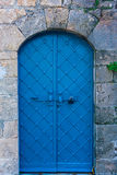 Blue door in Haifa royalty free stock photography