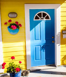 Blue Door Houseboat Victoria Canada Royalty Free Stock Photography