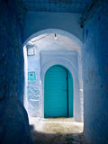 Blue door II. Blue door of a typical house in Morocco Royalty Free Stock Photography