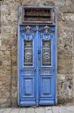 Blue door in jarusalem Royalty Free Stock Photos