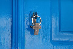 Blue door and the key Royalty Free Stock Photos