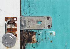 Blue Door Lock Stock Image