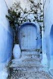 Blue door in the medina. Morocco Stock Images
