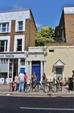 The blue door in Notting Hill Stock Photography