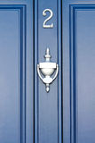 Blue Door - number 2 Royalty Free Stock Photos