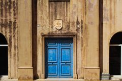 Blue door royalty free stock images