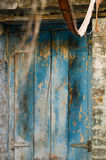 Blue Door with Old Paint Royalty Free Stock Photo