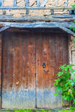 Blue door of the old traditional turkish house Royalty Free Stock Images
