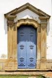 Blue door. Old blue wood painted church door Stock Photography