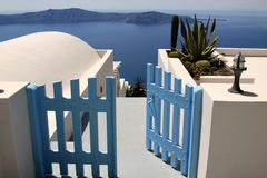 Free Blue Door Opened In The Sea Stock Photos - 14644153