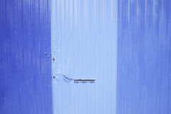 Painted Blue Door Stock Photography