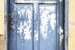Blue Door With Peeling Paint Royalty Free Stock Image