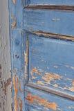 Blue Door. Photo of vintage worn blue door Stock Photo