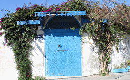 Blue door in Sidi Bou Said,Tunisia Royalty Free Stock Image