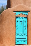 Southwestern Blue Door. Blue door on Southwestern adobe house in New Mexico Stock Photography