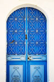 Blue door, Symi, Greece Stock Image