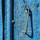 Blue door. Textured wooden door in stary krim, crimea royalty free stock images