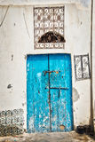 Blue door, Tunisia Stock Photos